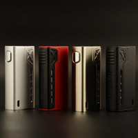 Authentique Tesla Terminator 90W Box Mod Big Fire Button Bright LED Light Design magnétique 2A Fast Charging Teslacigs E Cig DHL Free