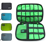 Women outdoor storage trunks - New Outdoor Data Earphone Cable Organizer Bag USB Flash Drives Case Digital Storage Pouch Sports Hiking Camping Travel Kits