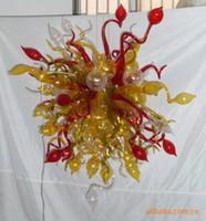 diseño de iluminación contemporánea de cristal al por mayor-Fixrtures contemporánea de cristal de Murano Cristal LED Luz pendiente grande contemporánea de techo suspendido Diseñado colorido Pequeña Araña