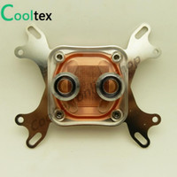 Wholesale Cpu Water Cooling Radiator - Wholesale- 100%New Cpu Water Block Water Cooling Cooler Computer Cooling Radiator For Intel & AMD With Mounting Screws Recommend!