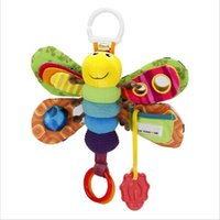 Wholesale Girls Butterfly Bedding - Wholesale- Baby Girl Boy 0-12 Month Toys Stroller Bed Hanging Butterfly Bee Handbell Rattle Mobile Teether Education Stuffed Plush Kid Toys