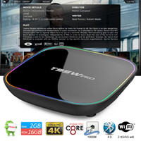 top boxs al por mayor-T95W Pro Android TV Boxs Octa Core Amlogic S912 4K Media Player Jarvis Showbox complementos preinstalados Miracast DLNA Smart Direct TV Set Top