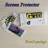 Wholesale Iphone Screen Protector Bag - Tempered Glass Screen Protector 2.5D 9H 0.26MM with Paper Bag for iPhone X 8 5s 6 6s 6splus 7 7plus Samsung LG