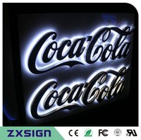 LED outdoor lighting advertising signage - Factory Outlet Outdoor stainless steel back lit LED letter signs custom advertising signage for the store coffee restaurant name signs