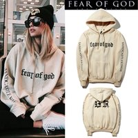 Wholesale Hoodie Men Sale - Fear Of God Hoodie Beige Purpose Tour Sweatshirt Gorilla Wear Hiphop Sweatshirt Skateboard Wes Black Khaki hot sale Tracksuit Men Brand