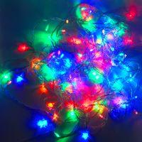 bandes de lumière led orange achat en gros de-LED Bandes 10 M chaîne Décoration Lumière 110 V 220 V Pour Fête De Mariage led scintillement éclairage De Noël décoration lumières chaîne