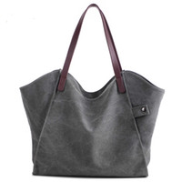 Wholesale Two Way Zippers - Canvas high-capacity handbag joker one shoulder contracted style restoring ancient ways environmental protection shopping bags