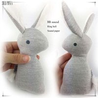 Wholesale Toy Stuffed Animals Super Cheap - Wholesale- HOT super cheap rattle but HIgh quality baby rattle infant BB toys rattle Lovely baby Stuffed rabbit BB toy 55551