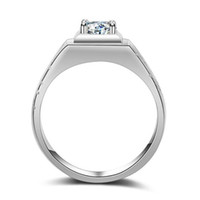 Wholesale simulated diamond ring sets white gold for sale - Group buy Fashion Jewelry CT Topaz simulated diamond KT White Gold Filled Engagement Wedding Band Ring Free