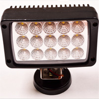 Wholesale Lights For 4x4 Cars - 6inch 45W LED Work Light Bar White Spot Flood Beam Lamp For Mine 4WD 4x4 SUV ATV BoatTruck Car Working Lamp