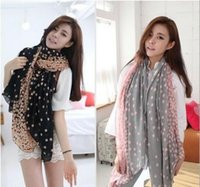Wholesale Bali Dot - Brand-Autumn and winter fashion Korean lovely dot Bali yarn size Talasite little scarves wholesale air conditioning sunscreen