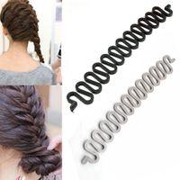 Wholesale Easy Hair Braider - Wholesale- Hot Sale Multi-colored Fashion Magic Easy Braid Wave Hair Disk Device Tress Women Hair Braider FreeShipping