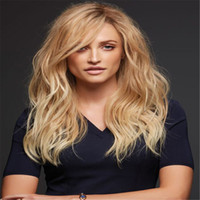 Wholesale human hair ombre wigs bangs for sale - Group buy Full Lace Wigs Ombre human hair wig Full Lace Human Hair Wig Senior silk Long Wavy Brazilian Virgin Hair With Bangs For women Color