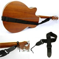 Wholesale Guitar Hot Folk - Hot Sale Electric Acoustic Bass Guitar Strap PU Leather + Nylon Multifunction Black Useful folk guitar straps 1 Pcs