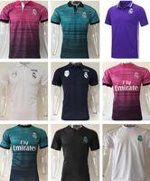 Wholesale Adult Sports Shorts - 2017 2018 Real Madrid Soccer Polo Shirt 17 18 Football Polos Men Adults Short Sleeve Sport Polo Training shirt