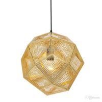 Wholesale Tom Dixon Etch Light - Tom Dixon Pendent Lamp Pendent Light Etch Shade Pendant Lamp Modern Brass Pendant Lights Gold Silver Ball Lamp 22cm 32cm 47cm Pendent Light