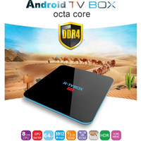 Wholesale Top Wholesale Online - R TV BOX Pro Amlogic S912 Octa Core 2G 16G DDR4 Android 7.1 TV Box Set-Top Box Streaming Online Movies Media Boxes