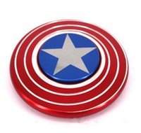 Wholesale Focus Light Bulbs - The Anti-Anxiety 360 Spinner Fidget Toy Captain America Shield Helps Focusing for Kids & Adults Stress Reducer Hand Spinner Ceramic Bearing