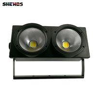 blinder bühnenlicht großhandel-2eyes 200W LED PFEILER Blinder kühles Weiß + warmes Weiß, das DMX-Stadiums-Beleuchtungs-Effekt beleuchtet, führte Blinder-Licht-schnelles Verschiffen, SHEHDS