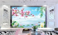 Wholesale 3d wallpaper custom photo Non woven mural Flower and bird rhyme scenery decor painting picture d wall muals wall paper for walls d