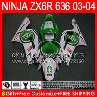 Wholesale kawasaki lucky - 8Gifts 23Colors Bodywork For KAWASAKI NINJA ZX-6R 03-04 ZX-636 Lucky Strike 29HM5 600CC ZX636 ZX6R 03 04 ZX 636 ZX 6R 2003 2004 Fairing kit