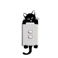 Wholesale 2017 Hot Sale Personality Sale Only Left Kitty Cat Baby Light Switch Funny Wall Decal Vinyl Stickers Creative Jdm