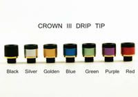 bobinas de atomização da coroa venda por atacado-Uwell Crown 3 Gotejamento Dica 510 Estilo Drip Tip Apto para Uwell Crown 3 substituição Bobina Tanque Varoius Cores Atomizador Bocal e cigs