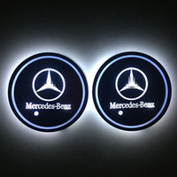 Nuova luce di decorazione della stuoia dell'automobile della stuoia dell'automobile della stuoia dell'automobile del LED per Mercedes Benz 2pcs / set con la luce bianca