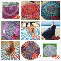 Wholesale Hand Weaving Rugs - Yoga Mat Rug Beach Blanket Towels Mandala Sunscreen shawl loop towel Bohemian Styles Towel 26 colors 150CM Table Serviette Covers Free DHL