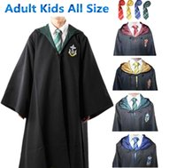 Wholesale Kids Christmas Cardigan - Harry Potter Cosplay Costumes Cloak Cape Gryffindor Slytherin Hufflepuff Ravenclaw Robe&Tie Adult Kids for Christmas gift