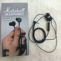 Wholesale Headphones Mic For Phones - 2017 Marshall MODE Headphones In Ear Headset Black Earphones With Mic HiFi Ear Buds Headphones Universal For Mobile Phones top selling