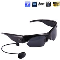 Wholesale Sport Sunglasses Camera - HD 1080P Bluetooth Sunglasses Spy Camera Video Recorder Sports Camcorder Glasses Headset for Smartphone Polarized Sunglasses DVR