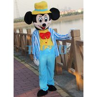 Wholesale Navy Mascot Costumes - Navy Blue Mouse Mascot Adult Size dress fancy dress mascot costume adult