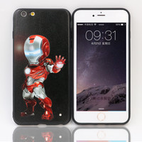Wholesale Iphone Man Steel Case - VODEX for iPhone 7 plus cases Little Steel Man Apple mobile TPU+PC phone protection shell 3D relief iPhone6 plus cases