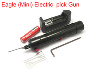 Wholesale Self Screws - 2017 New Eagle(Mini) Electric Pick Gun Self Clamping Screw Needle Precisely Adjustable Force Size Small Volume Low Weight Locksmith Tools