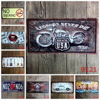 Wholesale art legend - No Smoking Guitar Legends Car Metal License Plate Vintage Home Decor Tin Sign Bar Pub Cafe Garage Decorative Metal Sign Art Painting Plaque
