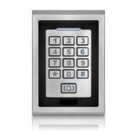 Wholesale Keypad Reader - Wholesale- Free shipping silver metal access control keypad waterproof smart card reader for rfid door access control system digital lock