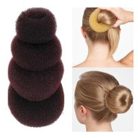 Wholesale bun ring styles for sale - Group buy S M L XL New Fashion Women Lady Magic Shaper Donut Hair Ring Bun Accessories Styling Tool Hair Accessories