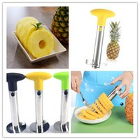 Wholesale Wholesale Plastic Box Cutters - Pineapple Corer Slicer Peeler Multi-function Stainless Steel Pineapple knife Creative Cutter Parer Pulp separator 3 colors With Box DHL