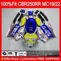 Wholesale fairing 1989 resale online - Injection For HONDA CBR RR CBR250RR Rothmans Blue HM12 MC19 MC22 CBR250 RR Fairing