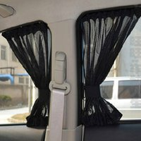 Wholesale Car Side Window Sun Shades - 2Pcs UV Protection Car Curtains For Front Side Window Sunshade Car Sun Shade Interior Accessories Auto Styling Black