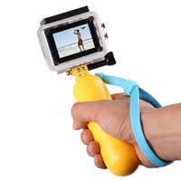 ingrosso monopiede pro eroe-Hot For GoPro Bobber Floating Handheld Stick Impugnatura Monopiede per Go Pro Hero 2 3 + / 3 4 5 6 7 nero Sj4000 Sport Accessori per fotocamere
