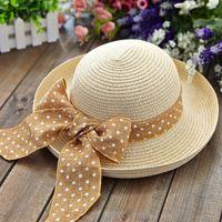 Wholesale Ladies Church Hats Cheap - 2017 Hot New Fashion Summer Casual Women Ladies Wide Brim Beach Sun Hat Elegant Straw Floppy Bohemia Cap For Women Dating Cheap