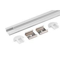 Wholesale aluminum industrial extrusion for sale - Group buy led aluminium profile m per Set LED Aluminum extrusion profile for led strips with milky diffuse cover or transparent cover SN2107