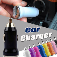 Wholesale Usb Car Socket - Universal Bullet Mini Car Socket Charger USB Protable Charge adapter for iPhone X 8 7 Plus 6 6S 5 5S Samsung Galaxy S8 S7 edge S6 Note 5 4