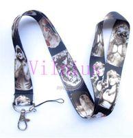 Wholesale Tattoo Keys - Hot!30pcs New Design Tattoo Marilyn Monroe Fashion Sstyle Mobile Phone LANYARD Key chain ID Neck Strap Charms