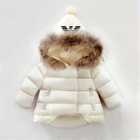 Wholesale Childrens Down Jackets - AMN Brand Kids Coats Boys and Girls Winter Coats Childrens Hoodies Baby's Jackets Kids Outwear kids 2 colors 1-6T baby Hot Sold.