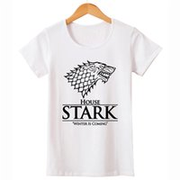 Wholesale Winter Women Tee - Wholesale-Hot Sale Winter is Coming T Shirts Women game of thrones Short Sleeve O Neck Woman T-Shirt Euro size Womens Tees Tops Shirt