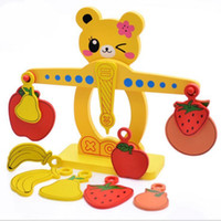 Wholesale Wooden Balance - 1Pcs Wooden Numbers Fruits Balance Scale Toys Set Promote Children's Balance Simulation Tools Desktop Tray Child Kids Intelligence Toys