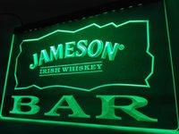 Wholesale Irish Neon Bar Signs - LA696- BAR Jameson Irish Whiskey LED Neon Light Sign